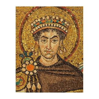 Flavius Petrus Sabbatius Iustinianus Augustus Wood Print