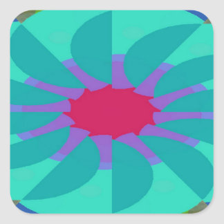 Flavored Philanthropy Pattern Square Sticker