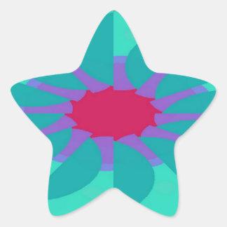 Flavored Philanthropy Pattern Star Sticker