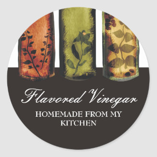 flavored vinegars bottles gift tag stickers pac...