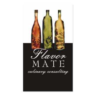 flavoued vinegars bottles cooking culinary busi... pack of standard business cards