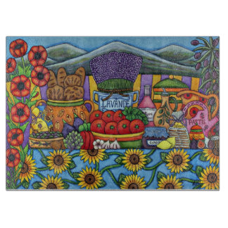 Flavours of Provence Decorative GlassCutting Board
