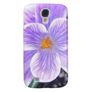 Flawless Purple Crocus Flower Samsung Galaxy S4 Case
