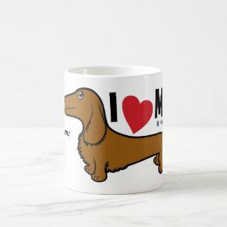"FLDR ""I Love My"" LH Red Doxie Character Mug. Coffee Mug"