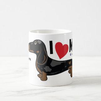 """FLDR """"I Love My"""" Smooth Dapple Dachshund Mug. Basic White Mug"""