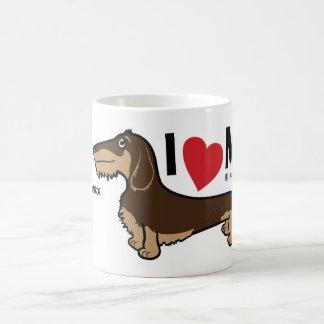 "FLDR ""I Love My"" Wire Haired Dachshund Mug. Basic White Mug"
