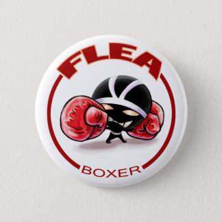 flea 6 cm round badge