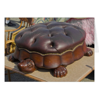 Flea Market Card - Turtle Ottoman