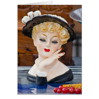 Flea Market Cards - Fashionable Blonde