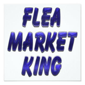 Flea Market King Blue Personalized Invitations