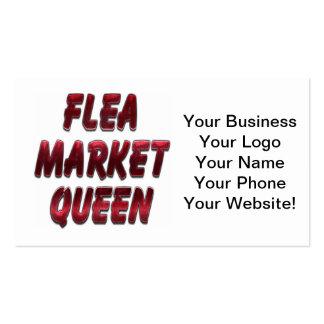 Flea Market Queen Red Business Card Template
