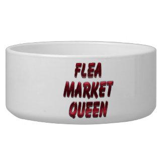 Flea Market Queen Red Pet Water Bowls