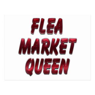 Flea Market Queen Red Postcard
