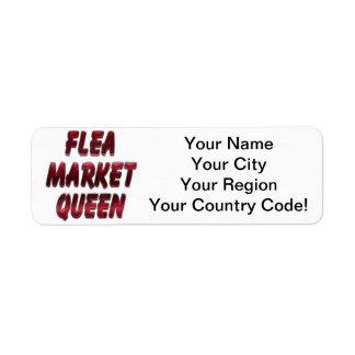 Flea Market Queen Red Return Address Label