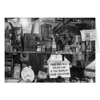 Flea Market Still-Life -B&W Greeting Card