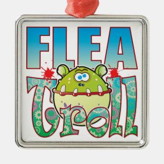 Flea Troll Metal Ornament