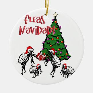 FLEAS NAVIDAD - Christmas Fleas and Christmas Tree Round Ceramic Decoration