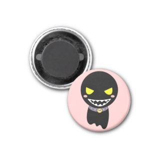Fleck the Black Ghost 3 Cm Round Magnet