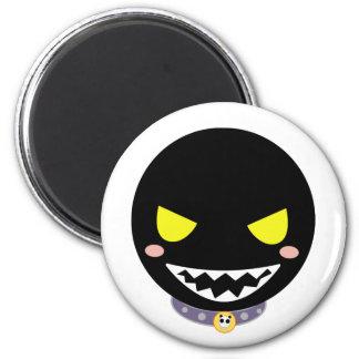 Fleck the Black Ghost Head 6 Cm Round Magnet