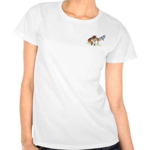 Fledgling Bird and a Dragonfly Tshirts