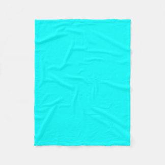 """Fleece Blanket 30""""x40"""" - Cyan / Aqua"""