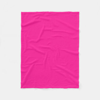 "Fleece Blanket 30""x40"" - Deep Pink"