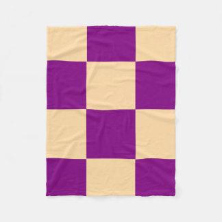 "Fleece Blanket 30""x40"" - Peach and Purple"