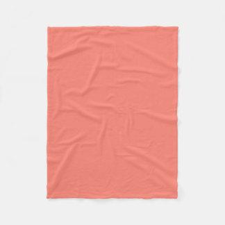 """Fleece Blanket 30""""x40"""" - Salmon Pink"""