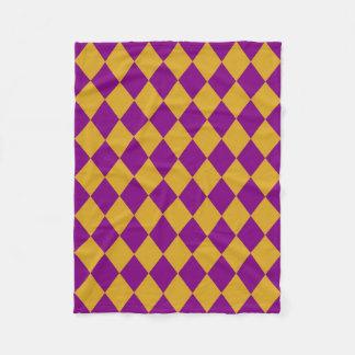 Fleece Blanket: Goldenrod & Purple Diamonds