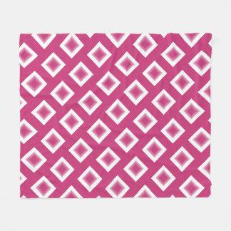 Fleece Blanket - Magenta Diamond Blocks