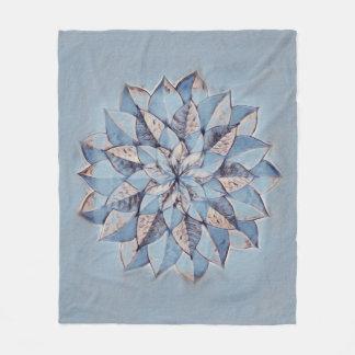 Fleece Blanket Multicolor Abstract Floral Design