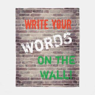 Fleece Blanket Red Brick Wall fCustom Graffitti