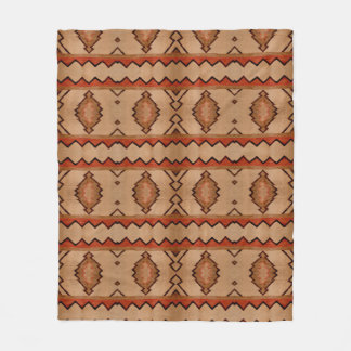 Fleece Blanket Southwest rustic woven rug design