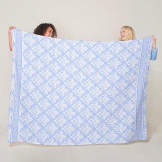 Fleece Blanket - Wedgewood Blue Damask