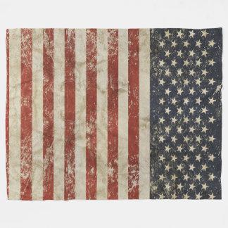 Fleece Blanket with flag of USA