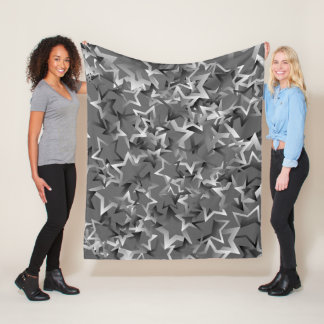 "Fleece Blanket with ""Gradient Stars"" design"