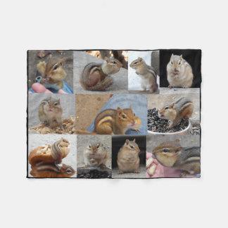 Fleece Chipmunk Blanket with 11 Chipmunks.
