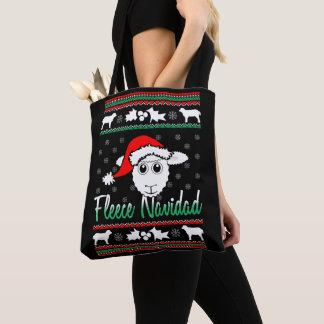 Fleece(Feliz) Navidad Ugly Christmas Sweater Tote