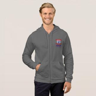 Fleece hoodie with Blues Highway Logo