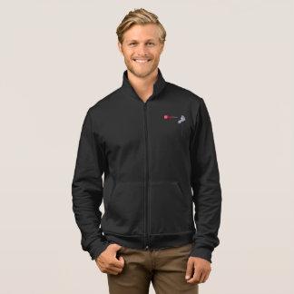 Fleece-lined jacket Jogging shoe for man with zip