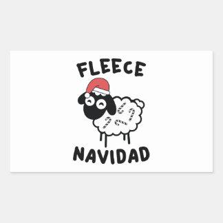 Fleece Navidad Rectangular Sticker