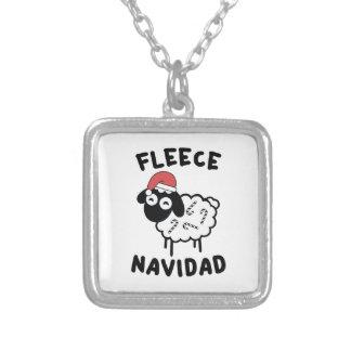 Fleece Navidad Silver Plated Necklace