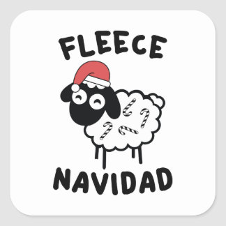 Fleece Navidad Square Sticker