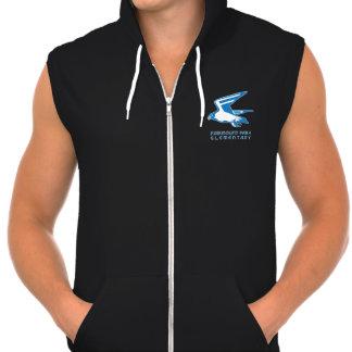 Fleece Zip Front Hooded Vest Hoody