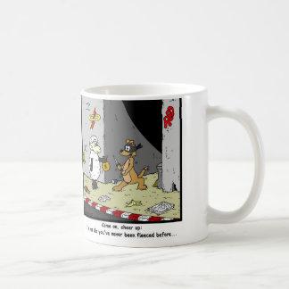 Fleeced: Sheep Cartoon Coffee Mug
