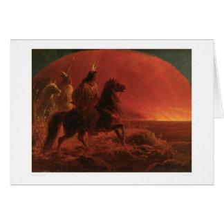 Fleeing a Prairie Fire (1868A) Greeting Card