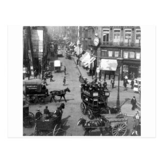 Fleet Street London England, 1901 U.K. Postcard