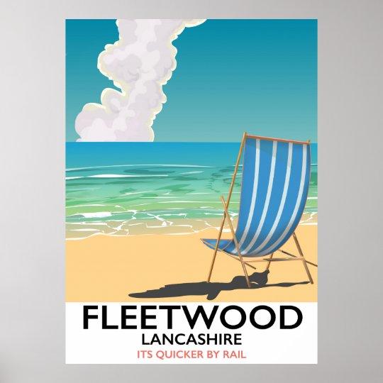 Fleetwood , Lancashire Seaside travel poster