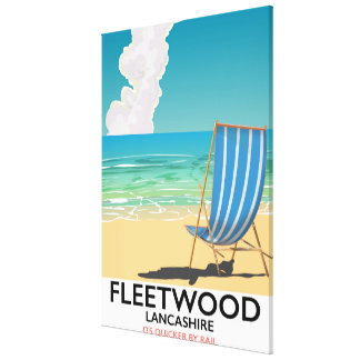 Fleetwood , Lancashire Seaside travel poster Canvas Print