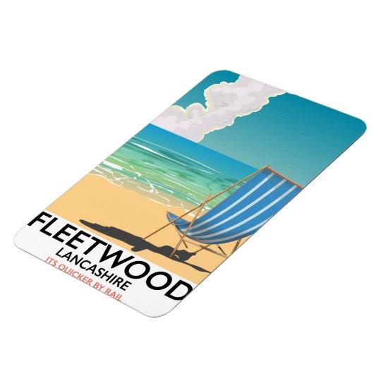 Fleetwood , Lancashire Seaside travel poster Rectangular Photo Magnet